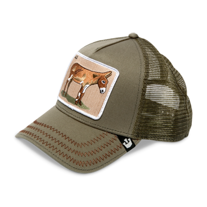 5d3a744696934 Details about Goorin Bros Donkey Ass Animal Series Trucker Hat - Olive