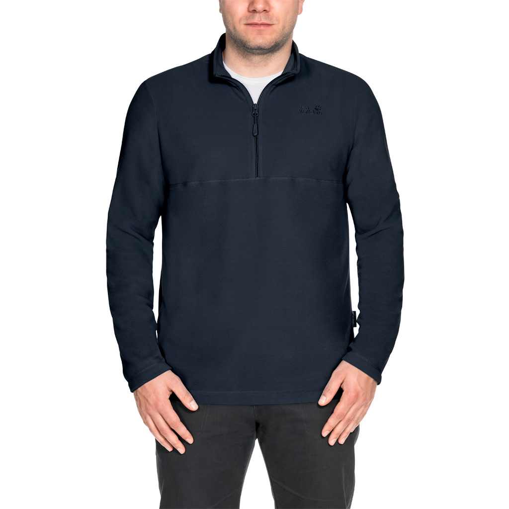 Jack Wolfskin Gecko fleece pullover black | WeAre Shop