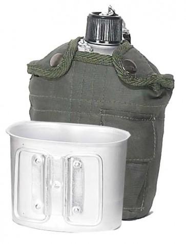 Aluminium 1QT Canteen - Khaki cover & Cup