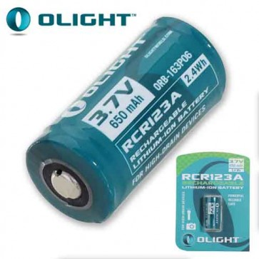 Rechargeable RCR123A Lithium Torch Battery
