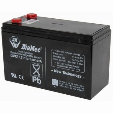 12v 7.2 Amp Hour Sealed Lead Acid Battery