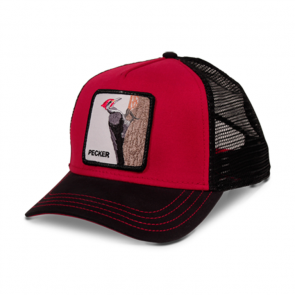 Goorin Bros Woody Wood Animal Series Trucker Hat - Red