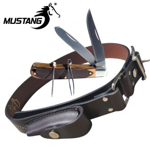 Mustang Stockman's Pocket Knife with Stockman's Belt