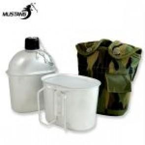 Aluminium 1QT Canteen w Camo Cover & Cup