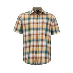 Marmot Men's Notus Short Sleeve (SS) Shirt - Dark Maple