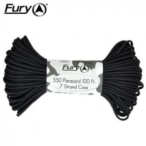 Fury Paracord 30m - Black