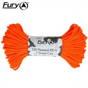 Fury Paracord 30m - Neon Orange