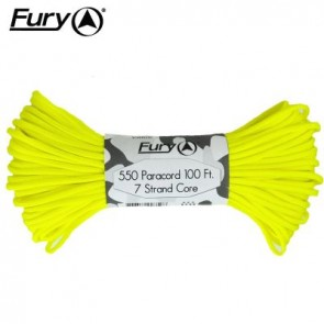 Fury Paracord 30m - Neon Yellow