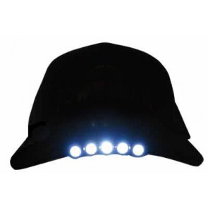 Plain Black LED Cap