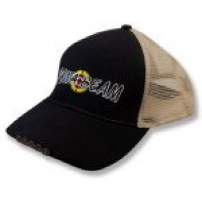 Powa Beam Black and Tan Mesh LED cap