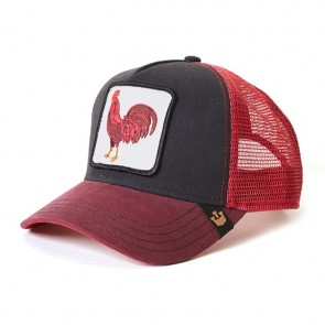 Goorin Bros Barn Yard King Trucker Cap - Red/Black