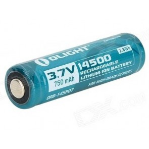 Olight 750mAh protected Li-ion 14500 rechargeable battery
