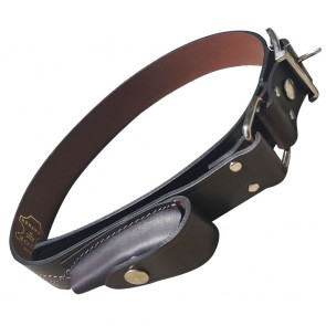JCOE Leather Stockman's Belt with Knife Pouch
